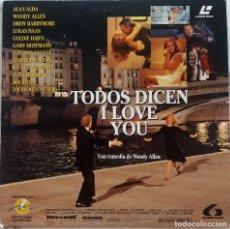 Cine: TODOS DICEN I LOVE YOU, UNA COMEDIA DE WOODY ALLEN. LASER DISC CON INSERTO INFORMACIÓN DEL FILM. Lote 224886760