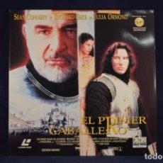 Cinema: EL PRIMER CABALLERO - 2 LASER DISC. Lote 228246720