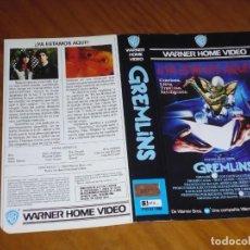 Cinema: GREMLINS - SOLO CARATULA DE VIDEO ORIGINAL. Lote 228889077