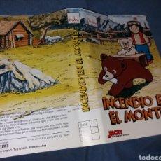 Cinema: INCENDIO EN EL MONTE- JACKY EL OSO DEL BOSQUE DE TALLACK- CARATULA VHS. Lote 229867245