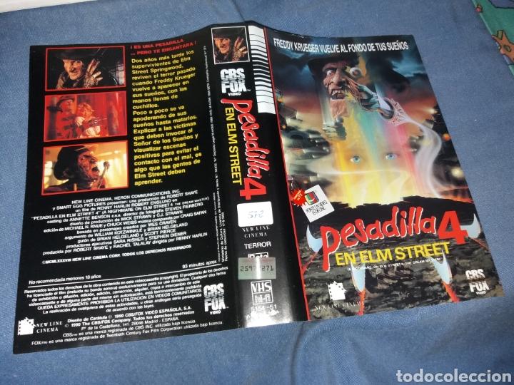 PESADILLA EN ELM STREET 4- CARATULA VHS (Cine - Varios)