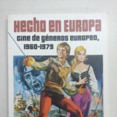 Cinema: .LIBRO/HECHO EN EUROPA/CINE DE GENEROS EUROPEO 1960/1979/TERROR-GIALLO-EROTICO.. Lote 262536875