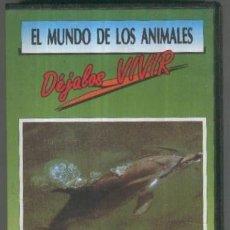 Cine: VHS-DOCUMENTAL: EL MUNDO DE LOS ANIMALES NO.03: DELFIN BLANCO DE LA CHINA. Lote 237219915