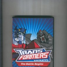 Cine: DVD: TRANSFORMERS ANIMATED: THE BATTLE BEGINS: OPTIMUS PRIME VS MEGATRON. Lote 237220130