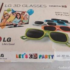 Cine: GAFAS 3D PARA TV / LG 3D GLASSES / PARTY PACK X 5 PCS / NUEVAS / CAJA ALGO DETERIORADA. Lote 237479245