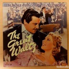 Cinéma: THE GREAT WALTZ (EL GRAN VALS) 1938 LASERDISC USA NTSC LUISE RAINER, FERNAND GRAVEY. Lote 240771250
