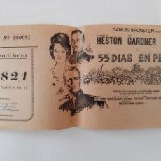 Cinéma: 55 DIAS EN PEKIN PUBLICIDAD CINE MODERNO RIOLA VALENCIA 1964 LOTERIA NAVIDAD CUATRO PESETAS RV. Lote 243550835