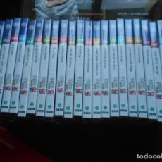 Cine: LOTE 23 DVD ENGLISH BBC EL MUNDO Y ARCHIVADOR CON LECCIONES. Lote 244000630