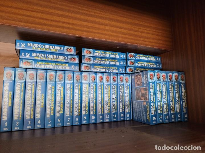 COLECCION VHS EL MUNDO SUBMARINO JACQUES COUSTEAU (Cine - Varios)