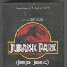 Cine: VHS CINE: JURASSIC PARK, PARQUE JURASICO - STEVEN SPIELBERG. Lote 244412730