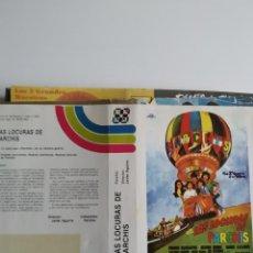 Cinema: SOLO CARATULA ~ LAS LOCURAS DE PARCHIS ~. Lote 244985125