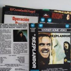 Cinéma: SOLO CARATULA ~ EL RESPLANDOR ~. Lote 244991005