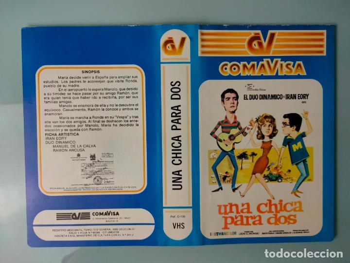 CARATULA ORIGINAL - UNA CHICA PARA DOS *PEDIDO MINIMO 5 EUROS* (Cine - Varios)