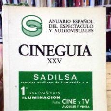 Cinéma: ANUARIO ESPAÑOL DEL ESPECTÁCULO Y AUDIOVISUALES. CINEGUÍA XXV. Lote 254216210