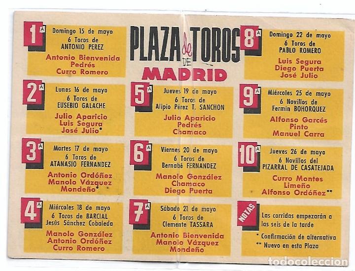 Cine: TOROS FERIA DE SAN ISIDRO 1960-RARO Y PERFECTO-IMPORTANTE LEER TODO - Foto 2 - 254799675