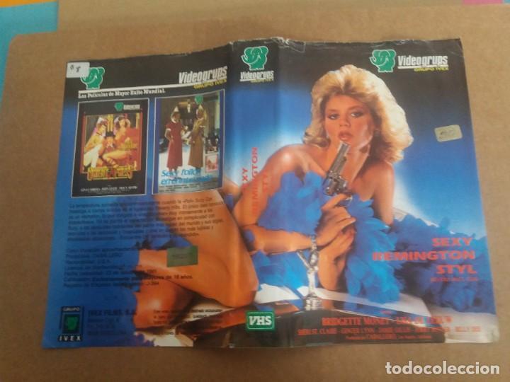CARATULA SEXY REMINGTON STYL VHS (Cine - Varios)