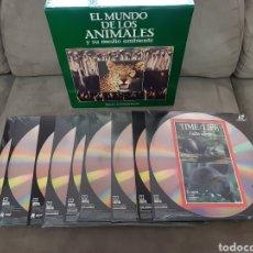 Cine: 9 LASER DISC EL MUNDO DE LOS ANIMALES Y SU MEDIO AMBIENTE (PRECINTADO). Lote 257970235