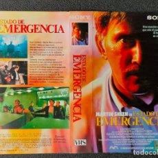 Cinema: CARATULA ORIGINAL - ESTADO DE EMERGENCIA - MARTIN SHEEN *PEDIDO MINIMO 5 EUROS*. Lote 258265410