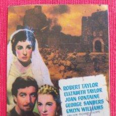 Cine: RECORTE: IVANHOE. ROBERT TAYLOR, ELIZABETH TAYLOR. Lote 259005230
