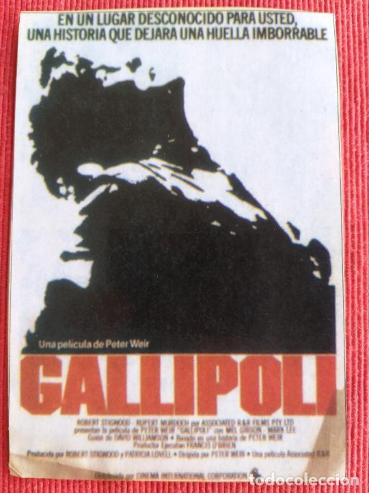 RECORTE DE REVISTA. GALLIPOLI. MEL GIBSON, PETER WEIR (Cine - Varios)