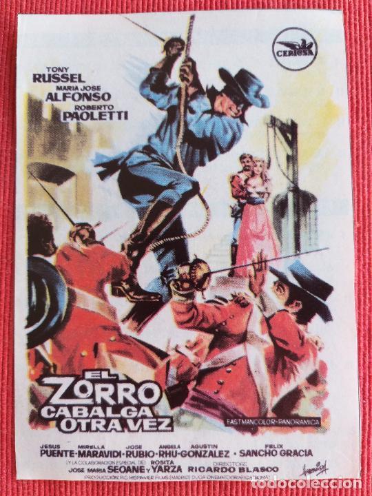 RECORTE DE REVISTA. EL ZORRO CABALGA OTRA VEZ. TONY RUSSEL, MARÍA JOSÉ ALFONSO (Cine - Varios)