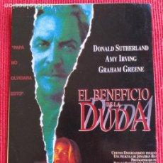 Cine: RECORTE DE REVISTA. EL BENEFICIO DE LA DUDA. DONALD SUTHERLAND, AMY IRVING, RIDER STRONG. Lote 262050305