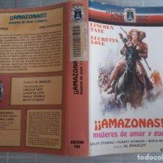 Cinema: CARATULA ¡¡AMAZONAS!! MUJERES DE AMOR Y GUERRA VHS. Lote 263067125