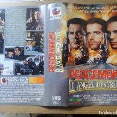 Cine: CARATULA PEACEMAKER EL ANGEL DESTRUCTOR VHS. Lote 263121360