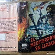 Cine: CARATULA EL MEDITERRANEO EN LLAMAS BETA. Lote 263122320