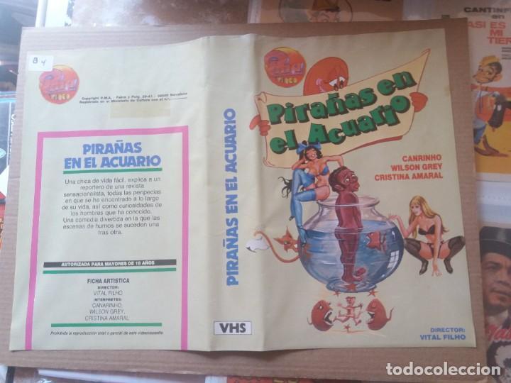 CARATULA PIRAÑAS EN EL ACUARIO VHS (Cine - Varios)