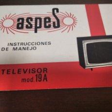 Cine: INSTRUCCIONES DE MANEJO TV ASPES. Lote 265863074