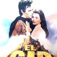 Cine: EL CID CRITERION LASERDISC CHARLTON HESTON SOFIA LOREN. Lote 268522774