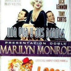 Cine: DVDX2 MARILYN MONROE UNA EVA DOS ADANES LOCOS DE ATAR NUEVA. Lote 268534549