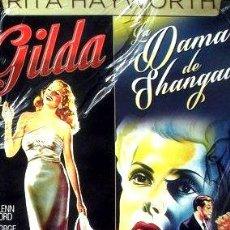 Cine: DVDX2 RITA HAYWORTH GILDA LA DAMA DE SHANGAI NUEVA. Lote 268537399