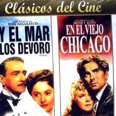 Cine: DVDX2 Y EL MAR LOS DEVORO EN EL VIEJO CHICAGO TITANIC. Lote 268563644