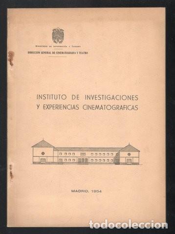INSTITUTO DE INVESTIGACIONES Y EXPERIENCIAS CINEMATOGRAFICAS (Cine - Varios)