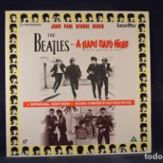 Cinema: THE BEATLES - A HARD DAY'S NIGHT & THE MAKING OF - LASER DISC. Lote 269356963