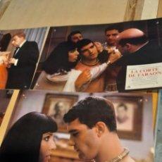 Cine: LOTE 6 CARTELES DE CINE : LA CORTE DEL FARAON ( ANA BELEN , ANTONIO BANDERAS, FERNANDO FERNAN-GOMEZ. Lote 274023678