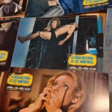 Cine: LOTE 11 CARTELES DE CINE : LA ORGIA NOCTURNA DE LOS VAMPIROS (JACK TAYLOR, DIANIK ZURAKOWSKA, CHARO. Lote 274023793