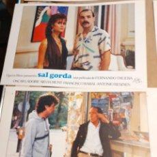 Cine: LOTE 5 CARTELES DE CINE : SAL GORDA ( ANTONIO RESINES, OSCAR LADOIRE ). Lote 274024198