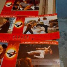 Cine: LOTE 7 CARTELES DE CINE : DRAGON, LA VIDA DE BRUCE LEE. Lote 274024883