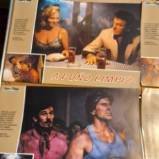 Cine: LOTE 12 CARTELES DE CINE : A PUÑO LIMPIO ( JORGE RIVERO, EDWARD ALBERT, MIKE CONNORS. BRENDA BAKKE ). Lote 274939353