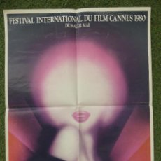 Cinema: CARTEL FESTIVAL INTERNATIONAL DU FILM CANNES 1980. Lote 275563558