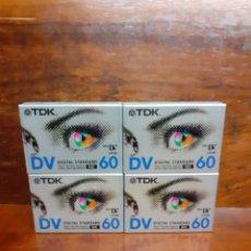 Cinema: LOTE DE 4 CINTAS MINIDV DIGITAL STANDARD 60 TDK. NUEVAS PRECINTADAS.. Lote 275591513