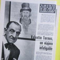 Cinema: AÑO 1973 - VALENTIN TORNOS DON CICUTA UN DOS TRES CHCHO IBAÑEZ SERRADOS - 2 PAGINAS. Lote 276498318