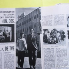 Cinema: AÑO 1972 - UN DOS TRES RESPONDA OTRA VEZ CONCURSA INTERVENTO DE LA RENFE - 3 PAGINAS. Lote 276536713
