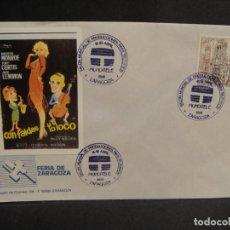 Cine: VIÑETA CON FALDAS Y A LO LOCO - SOBRE DEL SALON MUNDIAL DE PRODUCIONES PARA TV AÑO 1988. Lote 277514023