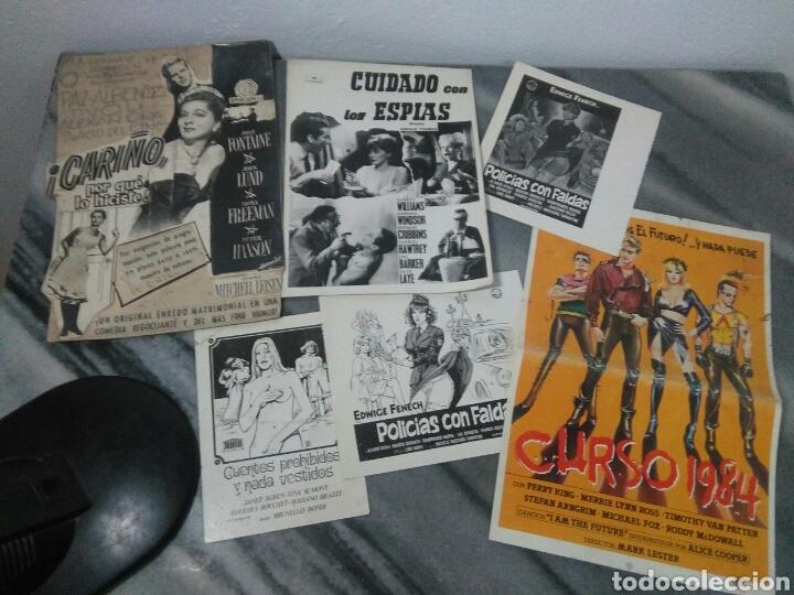 Cine: Lote de cine ,cartelitos y prototipo de cartel de cine,peliculas de epoca - Foto 2 - 278949333