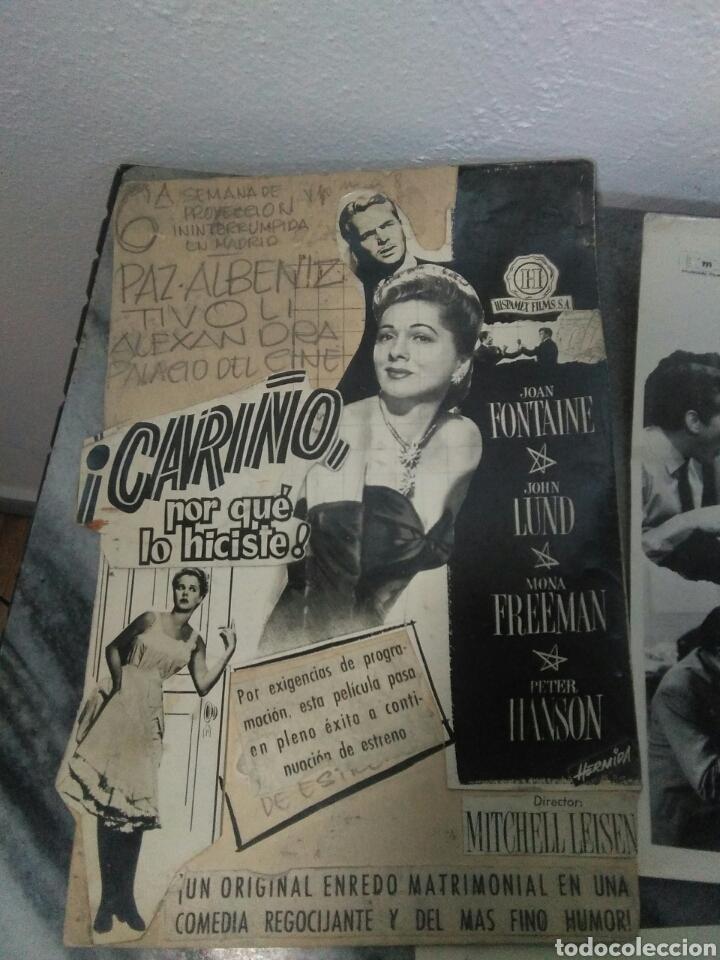 Cine: Lote de cine ,cartelitos y prototipo de cartel de cine,peliculas de epoca - Foto 8 - 278949333