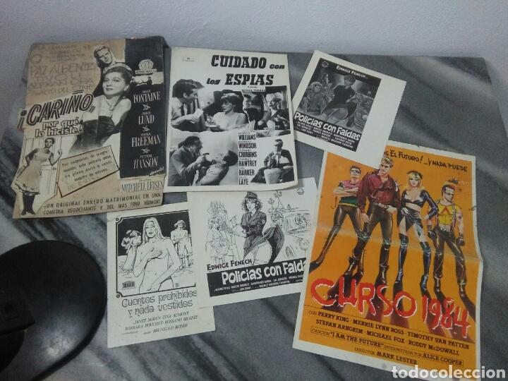 LOTE DE CINE ,CARTELITOS Y PROTOTIPO DE CARTEL DE CINE,PELICULAS DE EPOCA (Cine - Varios)